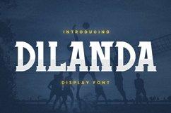 Web Font Dilanda Font Product Image 1