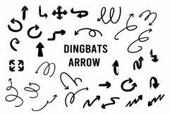 dingbats arrow font Product Image 1
