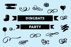 dingbats party font Product Image 1