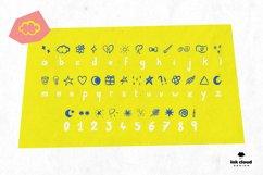 Dingbats Handwritten Symbol Script Font Kid Craft Typeface Product Image 2