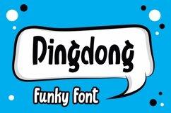 Web Font Dingdong - Funky Font Product Image 1