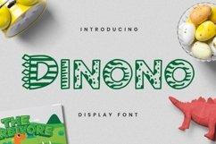 Web Font Dinono Font Product Image 1