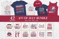 4th of july svg bundle dxf png eps - patriotic svg Product Image 1