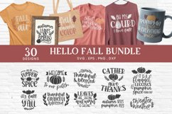 Hello Fall svg bundle - thanksgiving svg autumn svg png eps Product Image 1