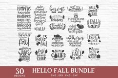 Hello Fall svg bundle - thanksgiving svg autumn svg png eps Product Image 2
