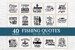40 Fishing svg bundle png eps dxf - Fishing Quotes svg Product Image 3