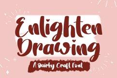 Enlighten Drawing | A Fun Handwritten Font Product Image 1