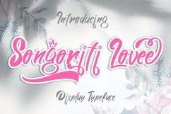 Songoriti Lovee | A Script Display Typeface Product Image 1