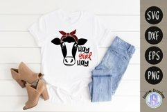 Hay Girl Hay   Cow Farmhouse SVG   SVG DXF EPS PNG Product Image 1