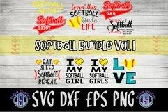 Softball Bundle Vol 1 | Set of 9 | SVG DXF EPS PNG Product Image 1