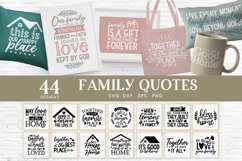Family Quotes Farmhouse Family Sign svg bundle dxf png eps Product Image 1