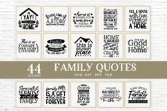 Family Quotes Farmhouse Family Sign svg bundle dxf png eps Product Image 3