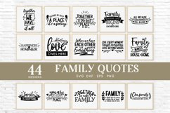 Family Quotes Farmhouse Family Sign svg bundle dxf png eps Product Image 2