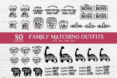 family matching outfits svg eps png dxf - family shirts svg Product Image 6