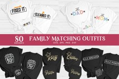 family matching outfits svg eps png dxf - family shirts svg Product Image 2
