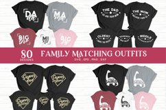 family matching outfits svg eps png dxf - family shirts svg Product Image 3