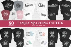 family matching outfits svg eps png dxf - family shirts svg Product Image 4