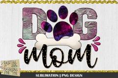 Dog Mom   Black Burgundy Green   Sublimation Design   Mom Product Image 1