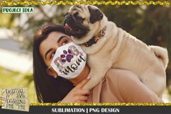 Dog Mom   Black Burgundy Green   Sublimation Design   Mom Product Image 3