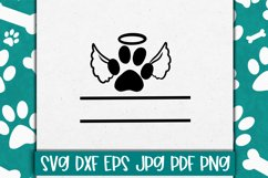 Pet Ornament Keepsake Cut file / Paw Print SVG Product Image 1