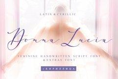 Donna Lucia feminine font Cyrillic Extras & Logo Product Image 1