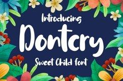 Web Font Dontcry - Sweet Child Font Product Image 1