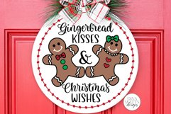 Gingerbread Kisses & Christmas Wishes SVG | Winter Design Product Image 1