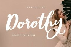 Web Font Dorothy - Beauty Script Font Product Image 1