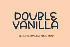Double Vanilla - a quirky handwritten font Product Image 1