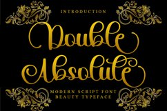 Double Absolute - Modern Script Font Product Image 1