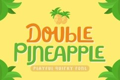 Double Pineapple - Playful Quirky Font Product Image 1
