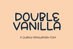 Web Font Double Vanilla - a quirky handwritten font Product Image 1