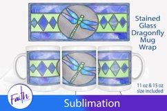 Mug Wrap Dragonfly Stained Glass Sublimation Product Image 1