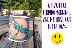 Mug Wrap Dragonfly Stained Glass Sublimation Product Image 4