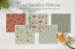 Floral seamless pattern. Swatches in eps 10, ai Product Image 4