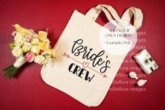 Wedding Bridal Tote Bag Flatlay SVG Craft Mockup Photo Red Product Image 3