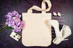 Wedding Bridal Tote Flatlay SVG Craft Mockup Photo Purple Product Image 2