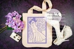 Wedding Bridal Tote Flatlay SVG Craft Mockup Photo Purple Product Image 3