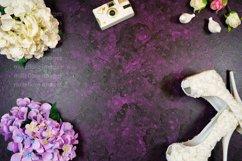 Wedding Framed Border Background Flatlay Styled Photo Purple Product Image 2