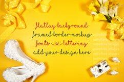 Wedding Framed Border Background Flatlay Styled Photo Yellow Product Image 3
