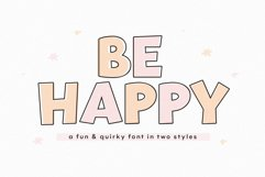 Be Happy - A Fun Handwritten Font Product Image 1