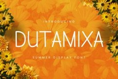 Web Font Dutamisxa Font Product Image 1