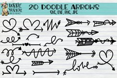 20 Arrows Doodle Hand drawn, clipart, heart love, tribal SVG Product Image 1