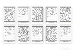 Color and learn the numbers | printable activity for kids. Product Image 5