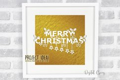Merry Christmas paper cut SVG / DXF / EPS files Product Image 3
