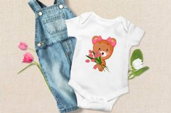 Cute cartoon baby bear clipart bundle. Eps, Png. Product Image 2