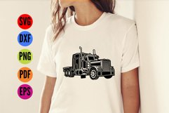 Truck, Lorry, HGV  SVG Cutting File  Product Image 2