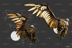 Golden Angel Wing overlay & Photoshop overlay Product Image 3
