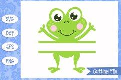 Frog split monogram SVG File Product Image 1