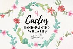 Cactus Watercolor Floral Wreath Succulents Garlands Cacti Product Image 1